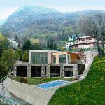 Ville di Lusso Menaggio moderna con piscina e vista lago - giardino
